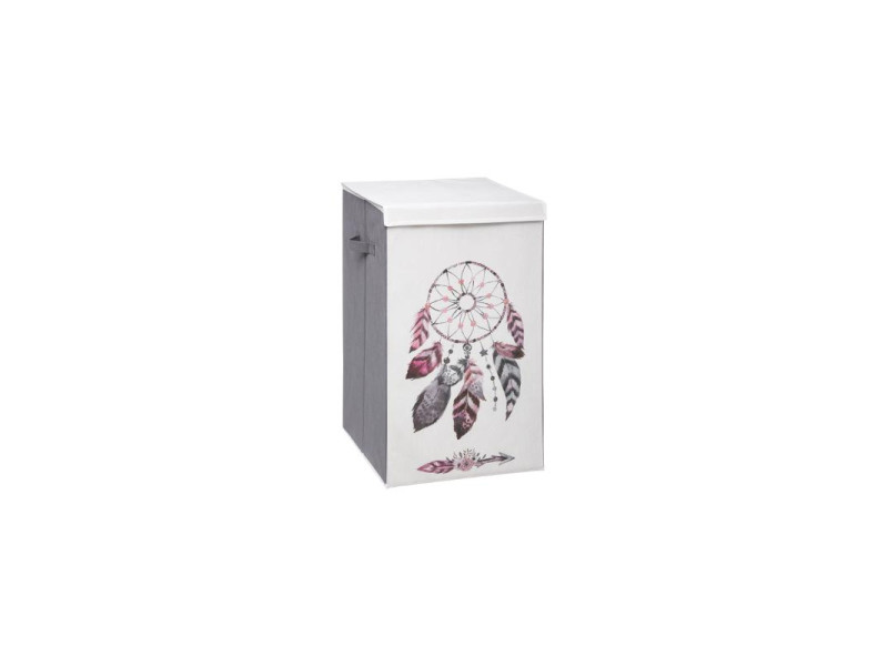 Panier à linge boho - 35 x 35 x 60 cm