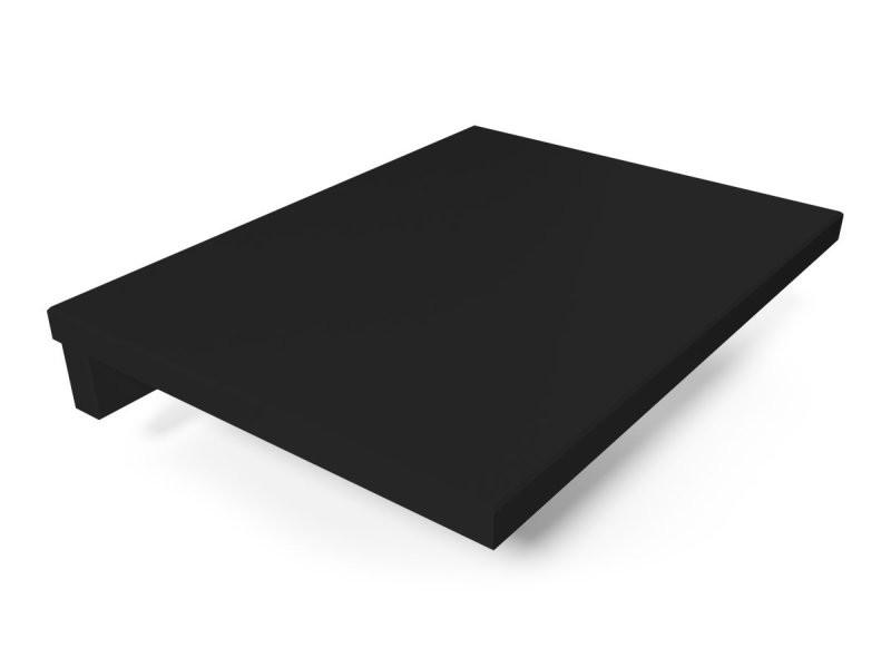 Tablette de chevet suspendue bois noir 2820-N