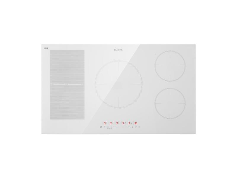 Klarstein delicatessa 90 - plaque de cuisson à induction hybride encastrable, 5 zones, vitrocéramique - blanc
