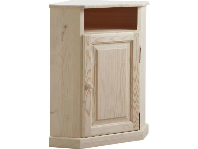 petit meuble d 39 angle en bois brut vente de aubry gaspard conforama. Black Bedroom Furniture Sets. Home Design Ideas