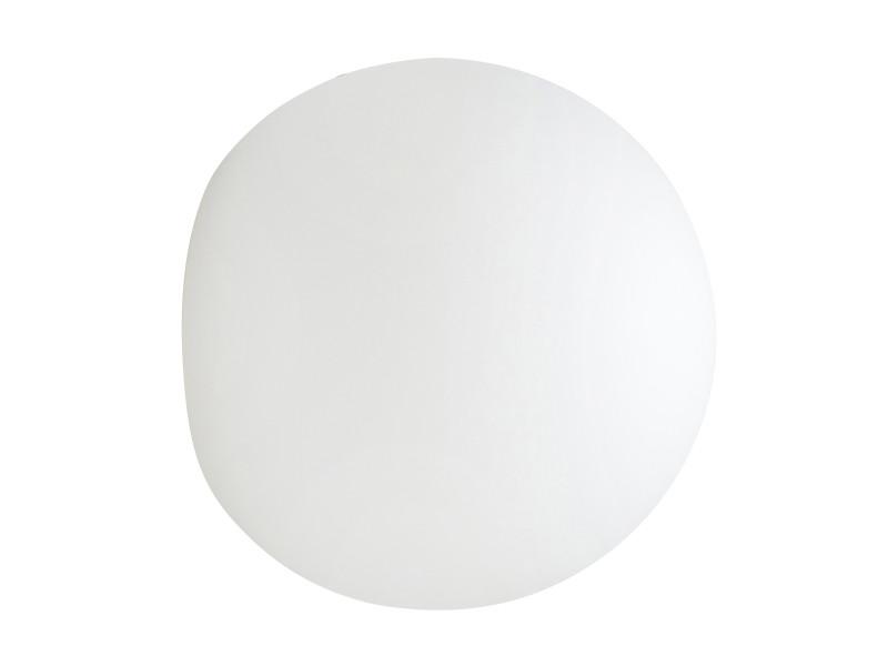 Applique murale ronde extérieur buly en polyéthylène blanc
