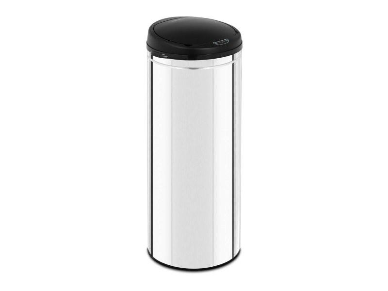 Poubelle automatique 50 litres avec récipient intérieur acier inoxydable helloshop26 14_0003101