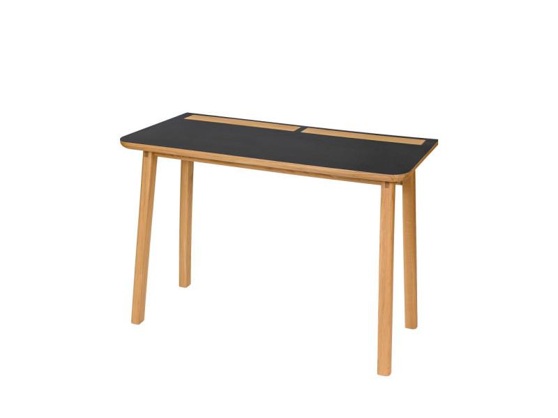 Kota bureau design scandinave bois et linoléum couleur noir