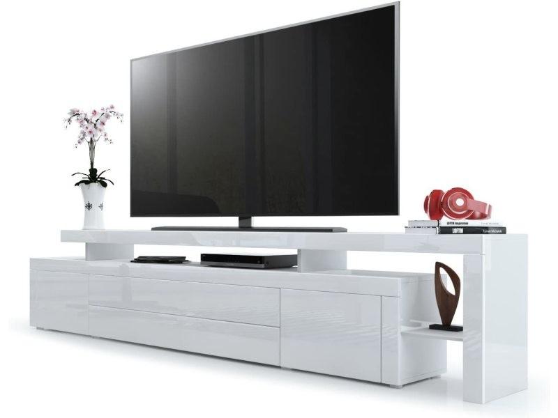 Meuble Tv Fuchsia Blanc Laque 227 Cm Vente De Meuble Tv