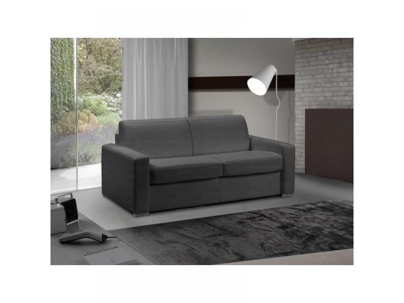 canap lit 2 places master convertible ouverture rapido 120 cm microfibre gris graphite matelas. Black Bedroom Furniture Sets. Home Design Ideas