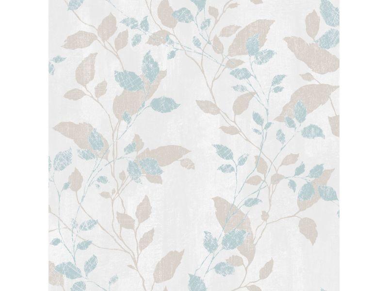 Papier peint intissé feuillage vermeil 1005 x 52cm bleu 104049