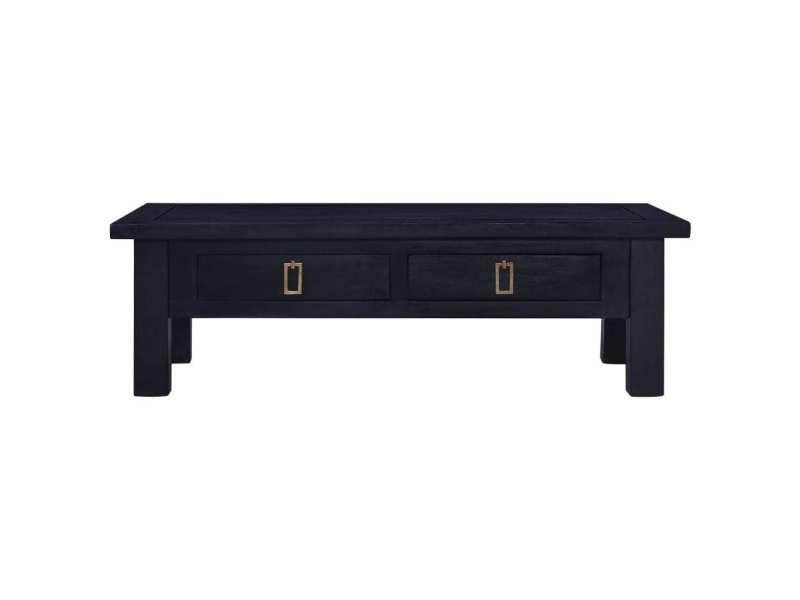Vidaxl table basse café noir clair 100x50x30 cm bois d'acajou massif 288829
