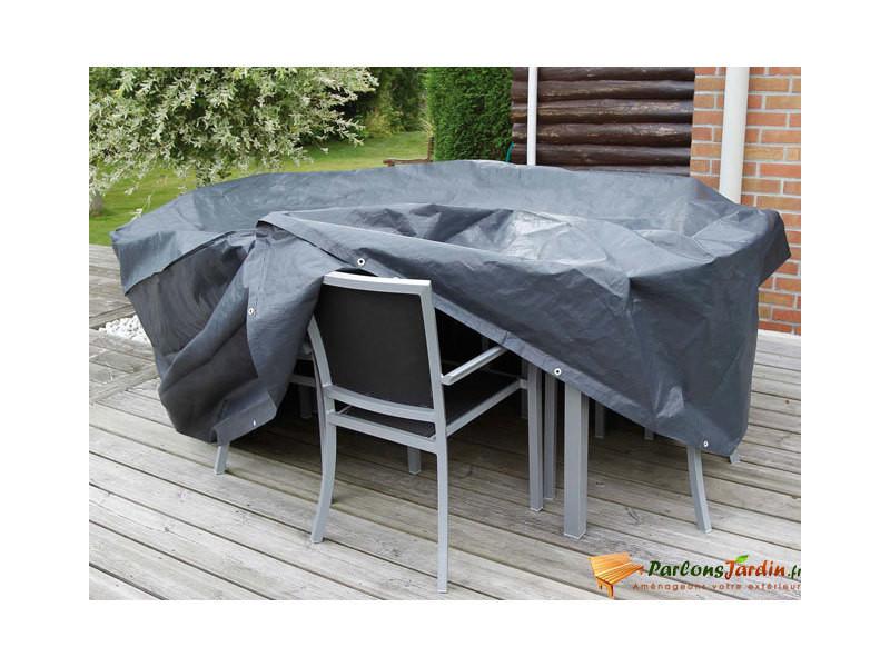 Housse de protection pour table de jardin ronde ø205cm - Vente de ...