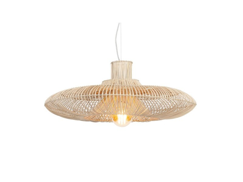 Suspension osier simple abat jour l - collection kalahari ...