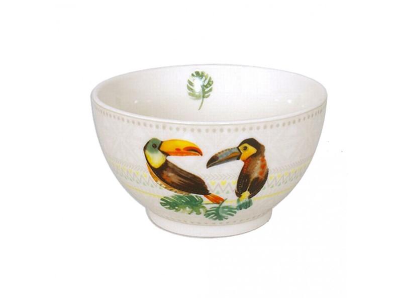 Bol toucan - 480 ml - céramique - blanc