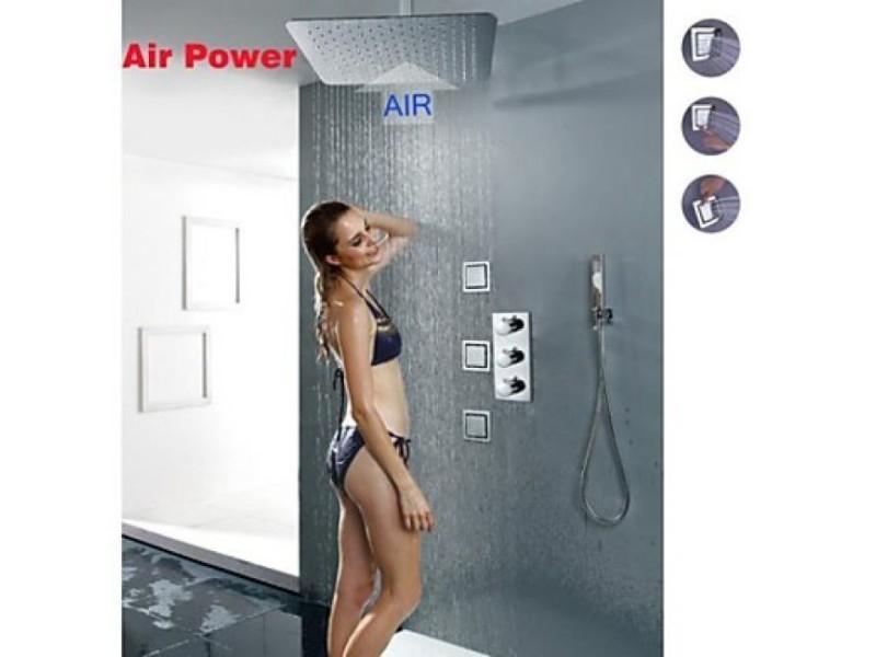Robinet de douche thermostatique avec tête de douche plafonnier