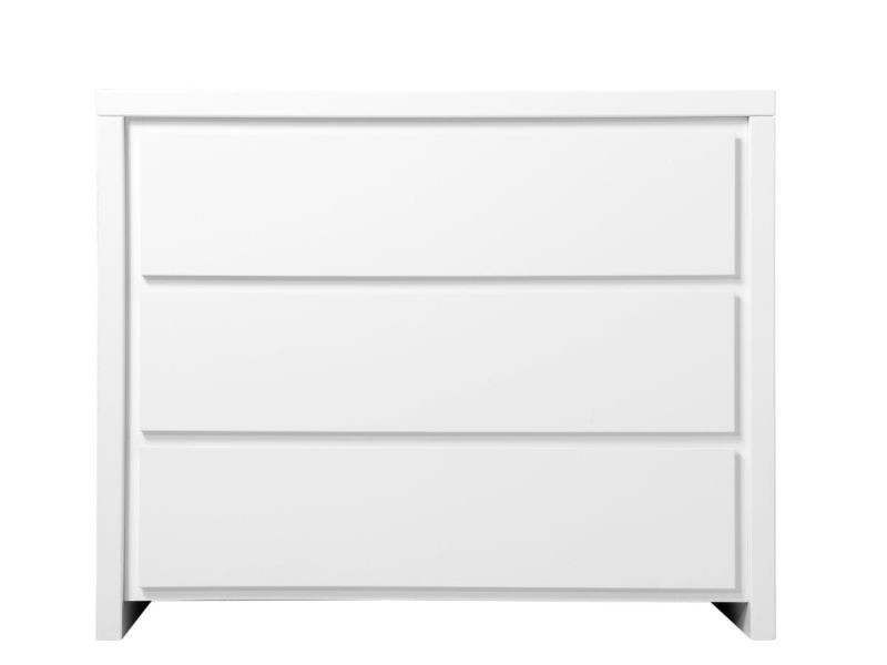 Commode 3 tiroirs camille - blanc