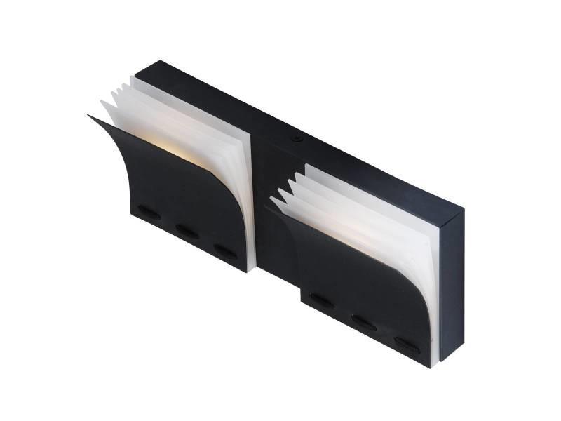 Applique murale design led curve noire mate en métal et acrylique