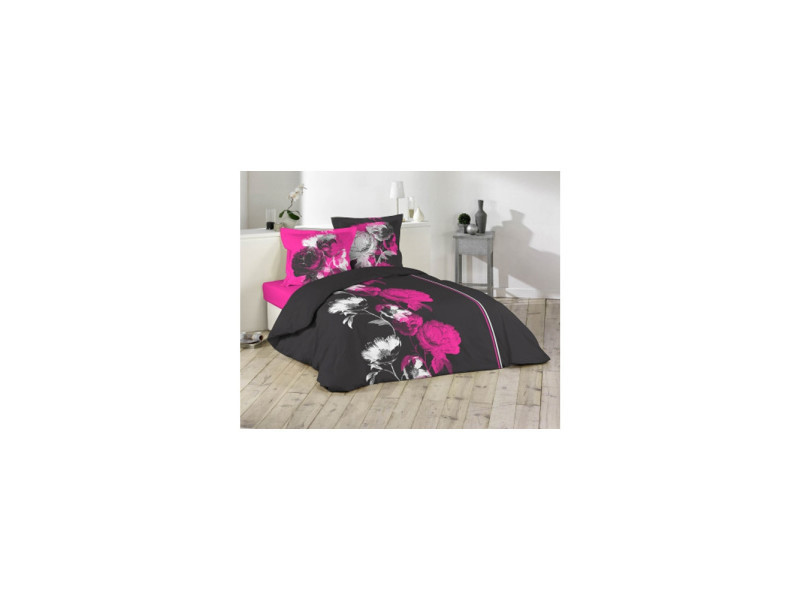 parure housse de couette 240 x 220 cm malia conforama. Black Bedroom Furniture Sets. Home Design Ideas