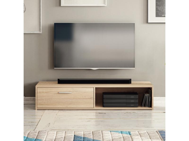 Meuble tv - rollo - 140 cm - chêne sonoma