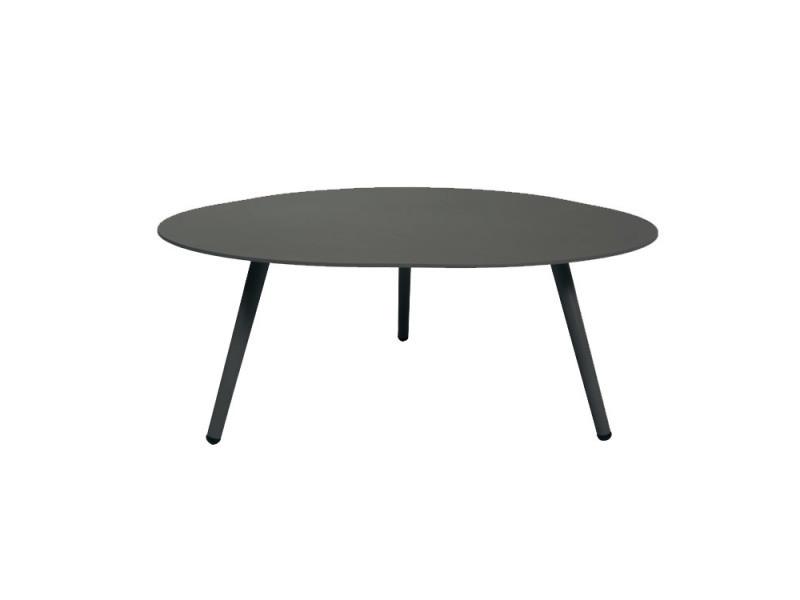 Table basse en alu gris anthracite spezia conforama - Table basse gris anthracite ...