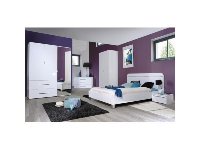Chambre coucher compl te adulte leader 160 x 200 cm for Chambre a coucher complete 1 personne