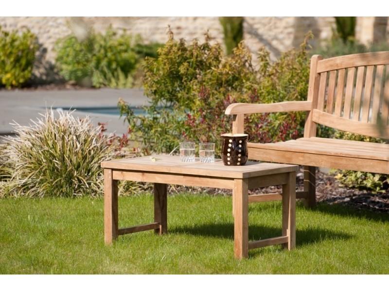 Table basse de jardin en teck - Conforama