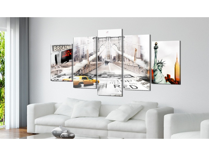200x100 tableau new york villes distingué new york dans le brouiilard