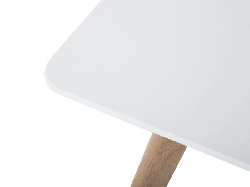 Table de salle à manger - table de cuisine - blanc - 120x80 cm - fly ...