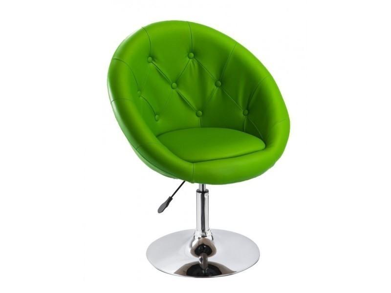 Fauteuil Capitonné Oeuf Design Pu Fal09004 Vert Bureau Cuir Chaise y6Yf7gb