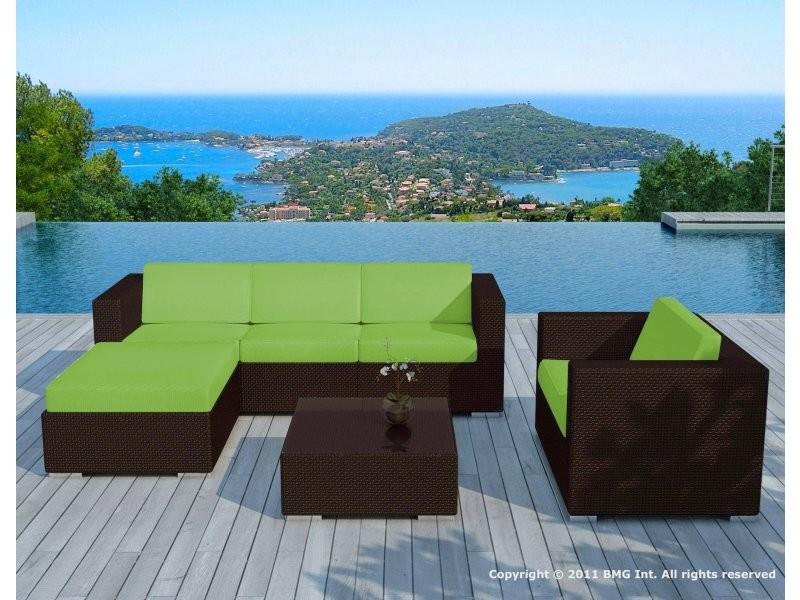 Sd8201 vert - (sd8201 choco-white + housse vert anis) - salon de ...