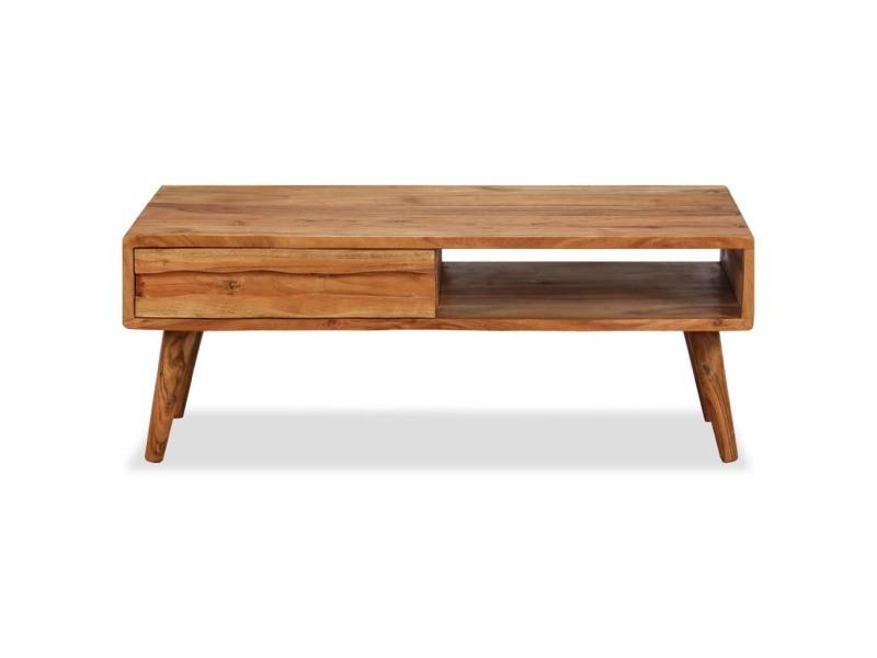 Icaverne Tables Basses Famille Table Basse Bois Massif Avec Tiroir Sculpte 100 X 50 X 40 Cm Vente De Sans Marque Conforama