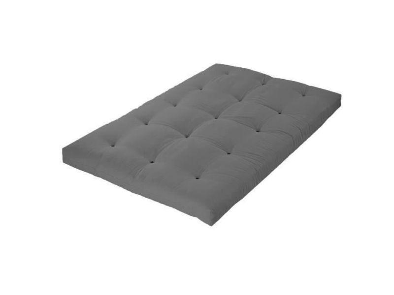 Matelas 160 x 200 - futon - 15 cm - ferme et equilibre - gris clair GRIS CLAIR