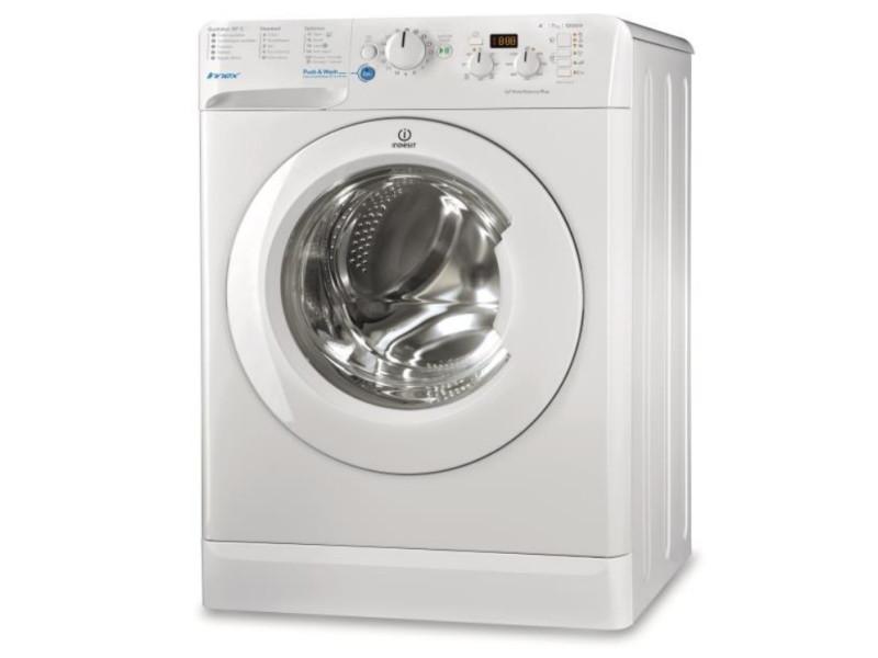 Indesit bwd 71452 w fr autonome charge avant 7kg 1400tr/min a++ blanc machine à laver BWD 71452 W FR