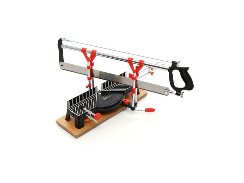 Dcraft | scie à onglet de précision pour bois | longueur lame 550 mm | largeur coupe 120 mm | scie à main atelier bricolage - noir