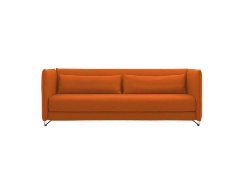 Canape Lit Design Metro 3 Places En Microfibre Orange 20100872783
