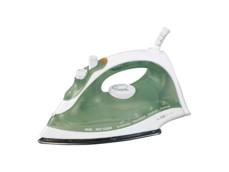 Fer à repasser à vapeur clatronic db 3105 (blanc-vert)