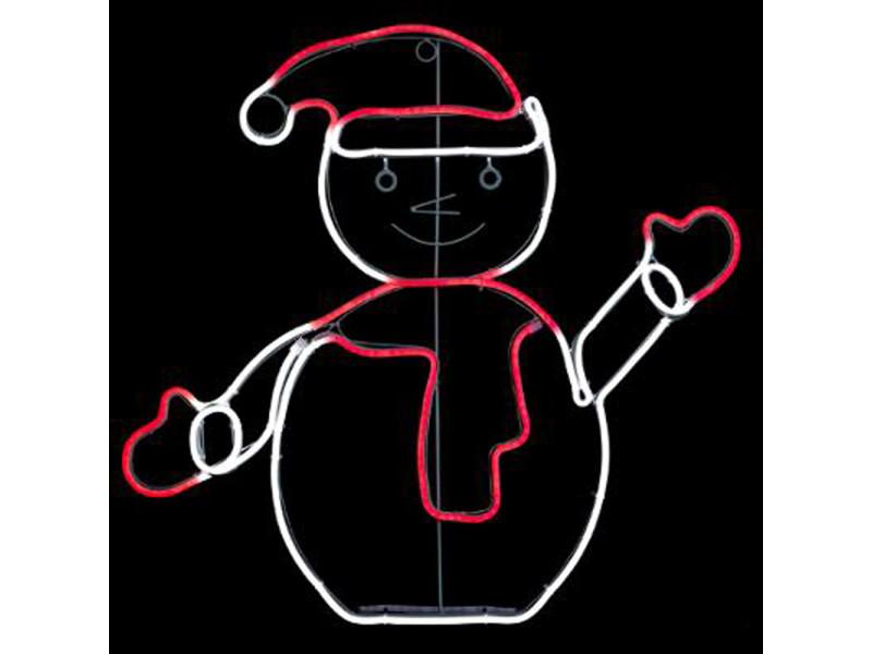 Bonhomme de neige/ décoration électrique de noël - l.65 x l.2 x h.62 cm -pegane-