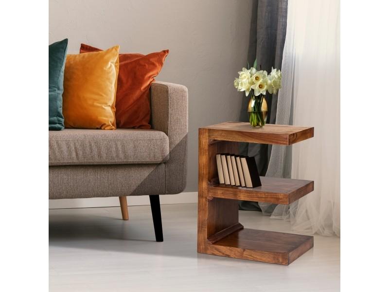 Table d'appoint marron, 45x30x60 cm, bois d'acacia massif 390002310