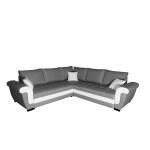 Canapé rodos angle reversible convertible avec coffre gris blanc