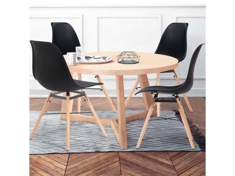 chaises x4 design scandinave noires pieds bois vente de id market conforama. Black Bedroom Furniture Sets. Home Design Ideas
