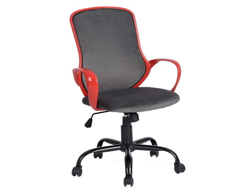 Fauteuil de bureau rouge gris réglable roulettes vente de fauteuil