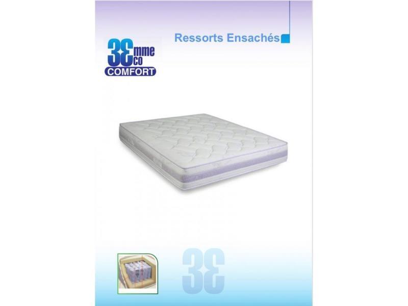 matelas eco confort ressorts ensaches 7 zones 80 23 190cm 20100838290 vente de matelas 2. Black Bedroom Furniture Sets. Home Design Ideas