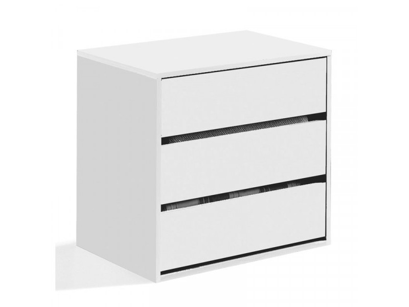 Meuble de rangement 3 tiroirs blanc - copist - l 60 x l 44 x h 57 cm