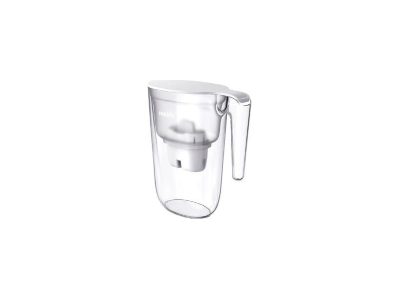 Philips awp2935wh carafe filtrante 2.6l - bec antipoussiere pour une eau pure - couvercle a clapet - débit d'eau 0,3 l/min - blanche PHI4897099302476