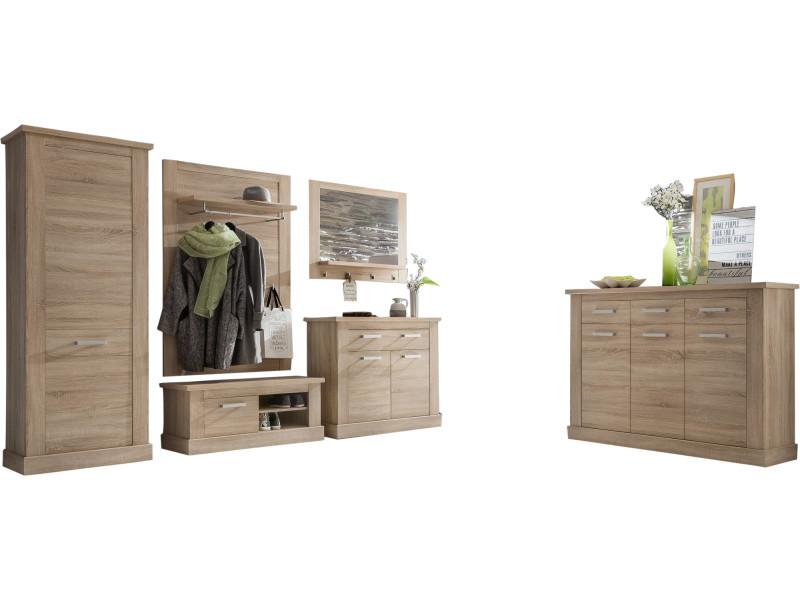 ensemble vestiaire avec armoire 1 porte meuble chaussure miroir meuble bas et de porte. Black Bedroom Furniture Sets. Home Design Ideas