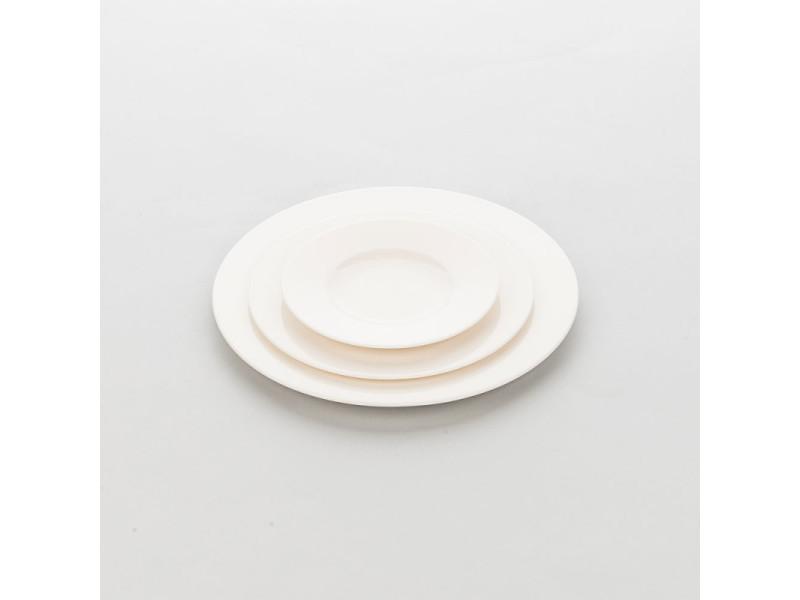 Assiette porcelaine ronde ecru liguria ø 160 à 320 mm - lot de 6 - stalgast - 16 cm porcelaine 320 (ø) mm
