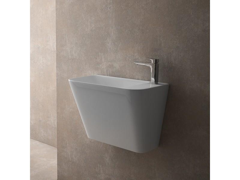 Vasque Suspendue Rectangulaire 50 Cm En Céramique Prima Vente De