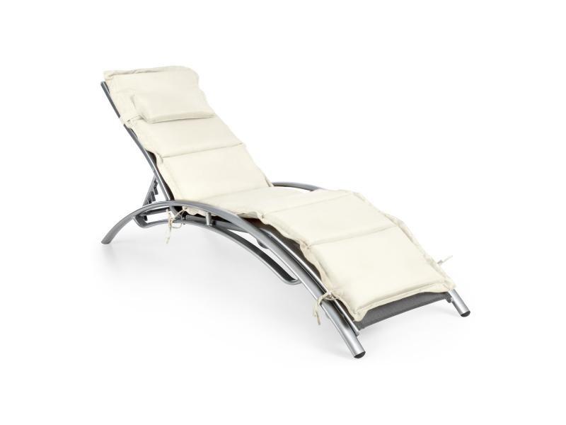 chaise longue jardin conforama