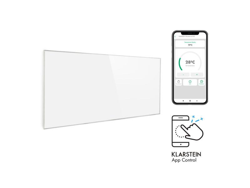Klarstein wonderwall smart radiateur infrarouge 60x120 cm 720w minuterie hebdomadaire ip24 blanc ACO14-Wonderwall720S