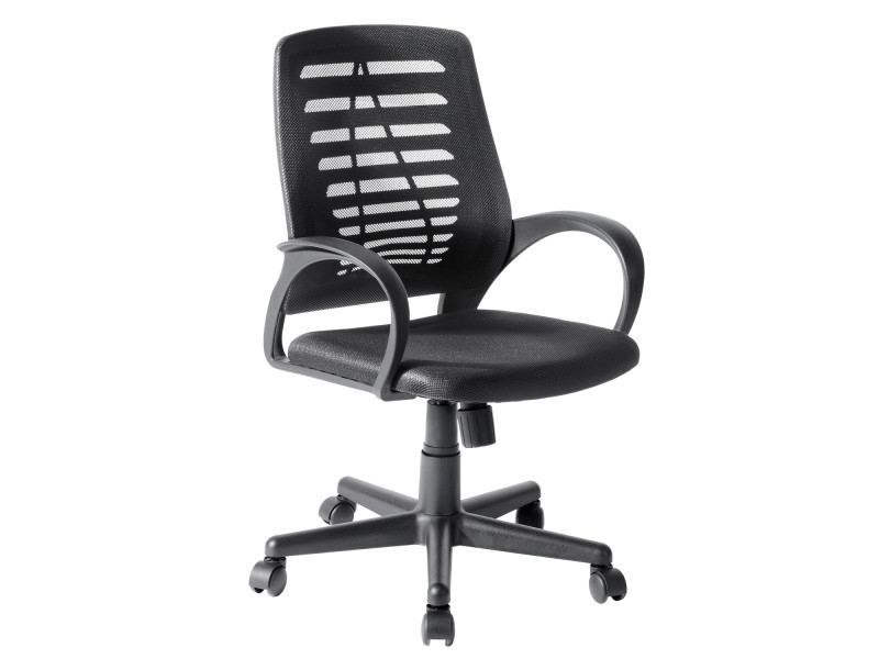 Chaise de bureau noire plastique