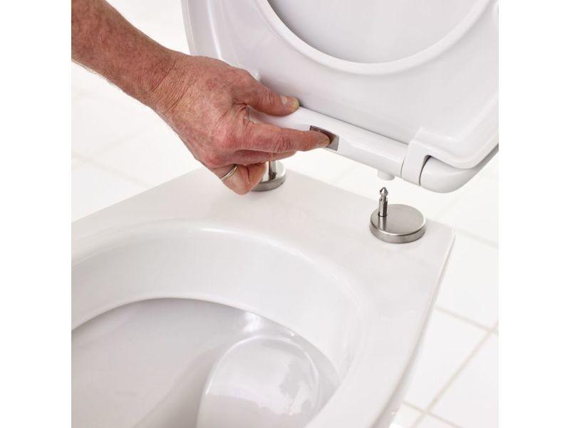 Ridder siège de toilette mohn fermeture en douceur blanc 2212100 421510