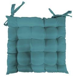 Coussin de chaise assise matelassé 40 x 40 cm bleu outremer