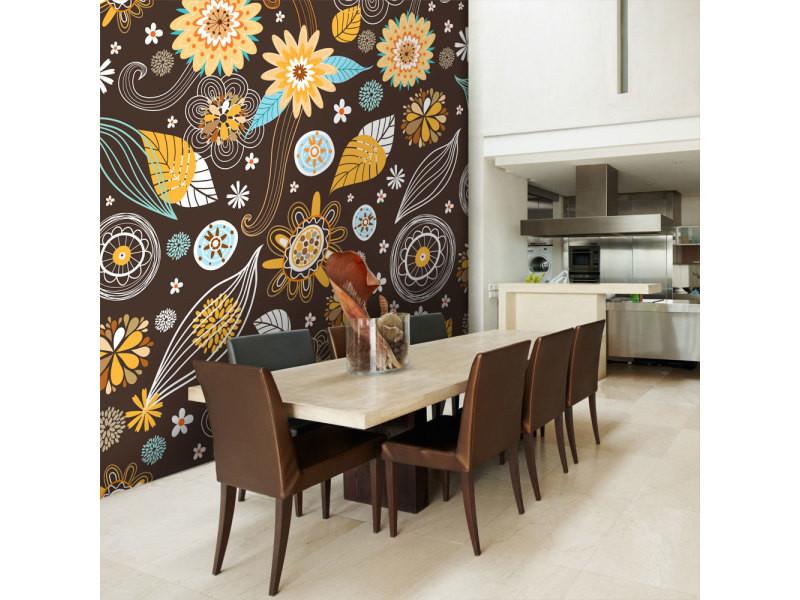 400x309 papier peint motifs floraux fonds et dessins stylé fleurs transparentes