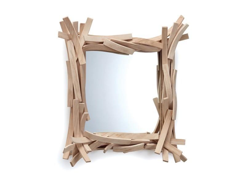 Miroir design en bois agathe petit mod le vente de for Petit miroir design